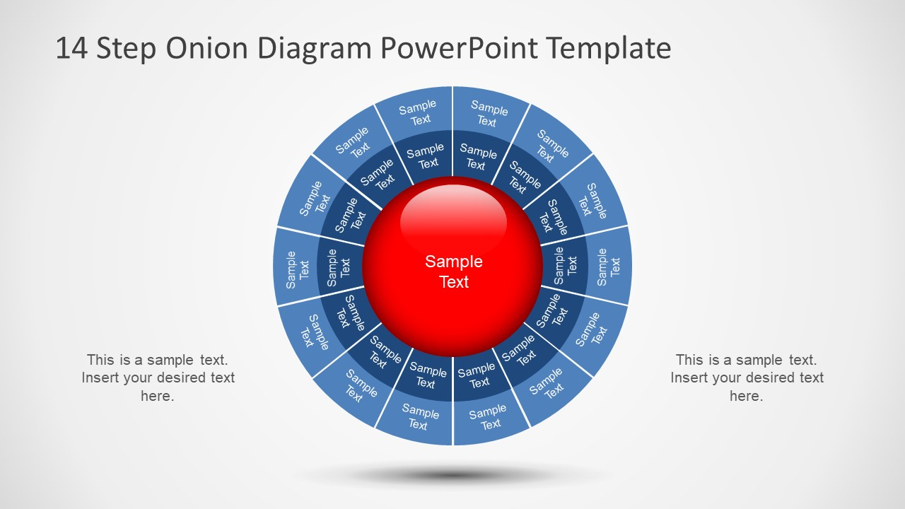 14 Step Onion Diagram PowerPoint Template SlideModel