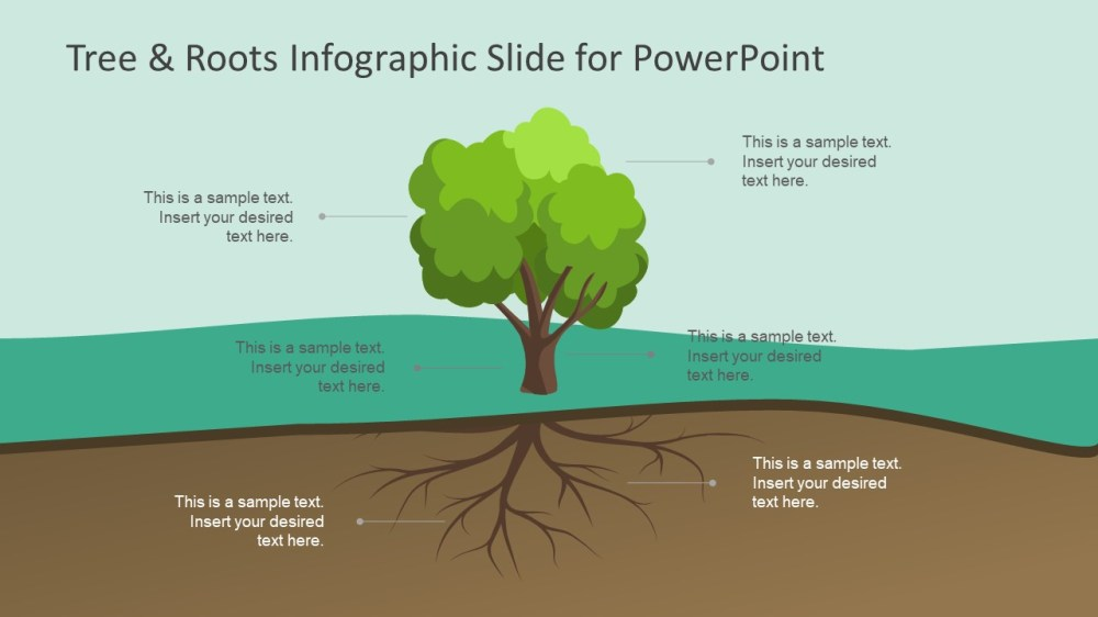 medium resolution of tree roots infographic slide for powerpoint slidemodel tree diagram root cause analysis infographic powerpoint label
