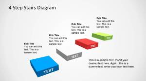4 Step Stairs Diagram Template for PowerPoint  SlideModel