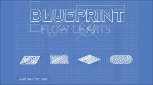Blueprint Flowchart PowerPoint Diagram  SlideModel