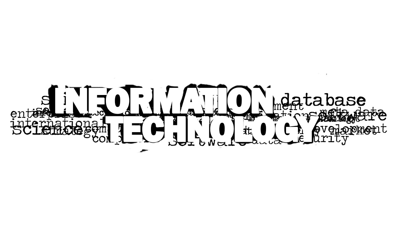 Information Technology Word Cloud Picture for PowerPoint