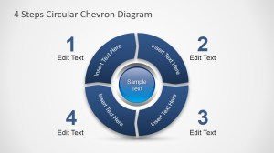 4 Steps Circular Chevron PowerPoint Diagram  SlideModel