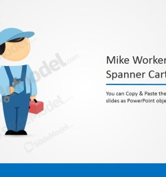 ppt template clipart cartoon mike with spanner  [ 1280 x 720 Pixel ]