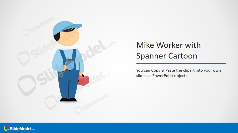 medium resolution of  ppt template clipart cartoon mike with spanner