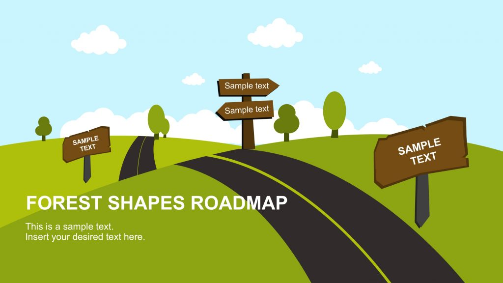 road map powerpoint template free