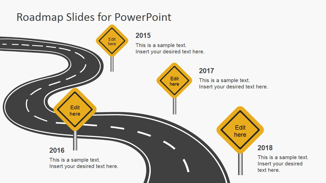 road ppt template