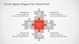 Free Flat Puzzle Jigsaw PowerPoint Diagram  SlideModel