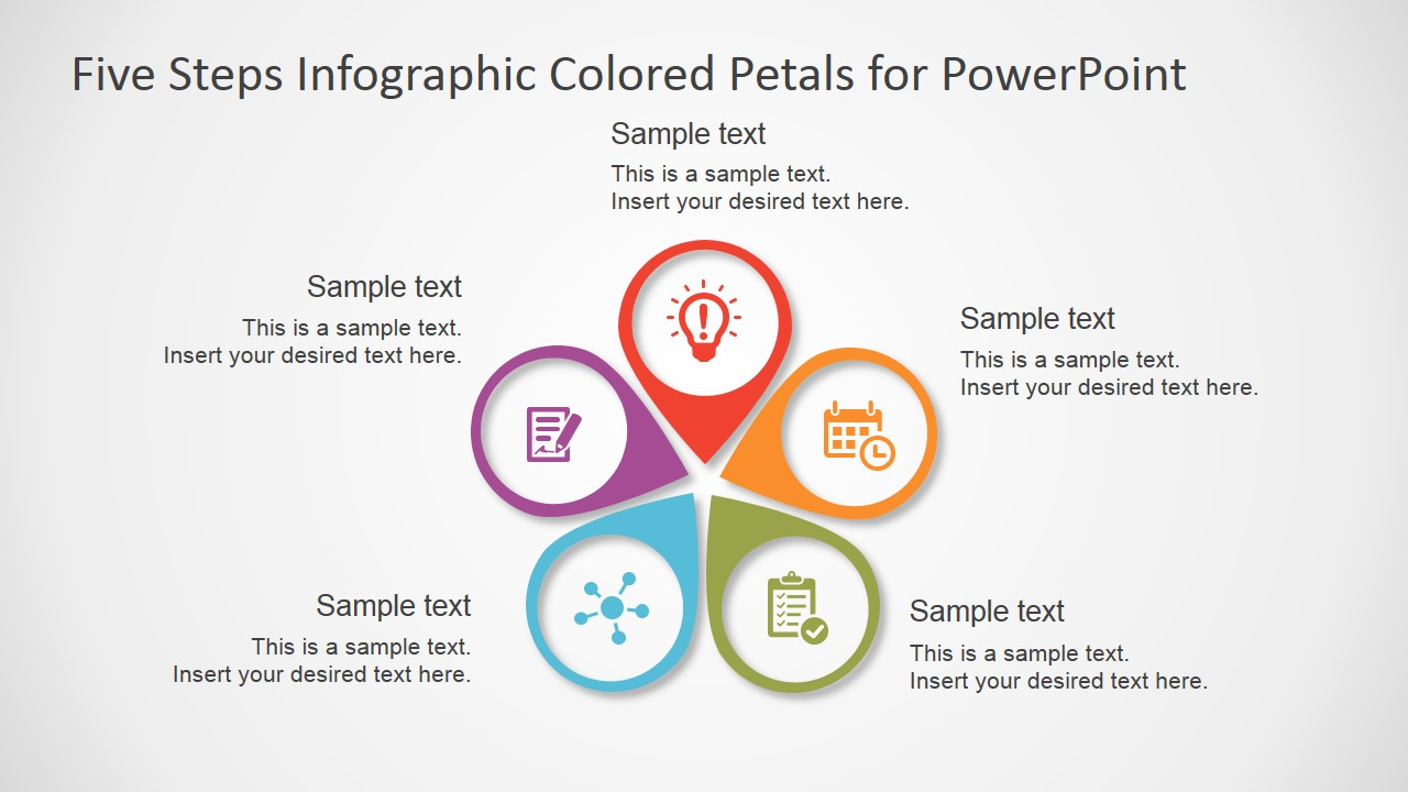 data model diagram tool free african elephant food chain five steps infographic colored petals powerpoint - slidemodel