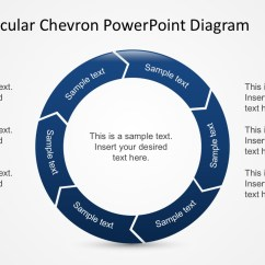 Circular Diagram Flow Chart Template Les Paul Junior Bausatz Free 6 Steps Chevron Powerpoint