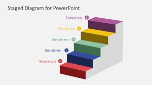 Free Staged Diagram PowerPoint Template