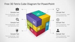 Free 3D Tetris Cube for PowerPoint  SlideModel