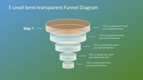 small resolution of download free 5 level semi transparent funnel diagram for powerpoint
