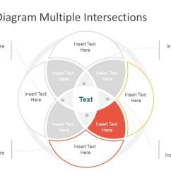 slide of creative 4 segments flow  [ 1280 x 720 Pixel ]