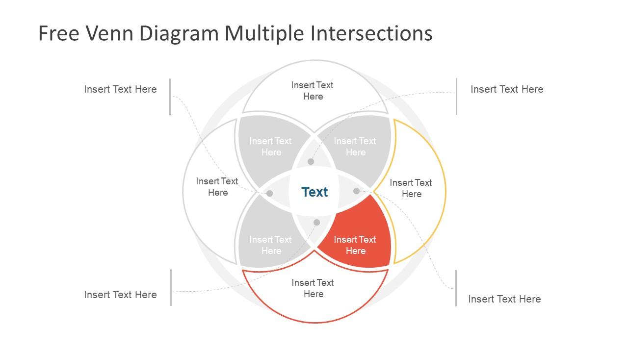 hight resolution of  slide of creative 4 segments flow