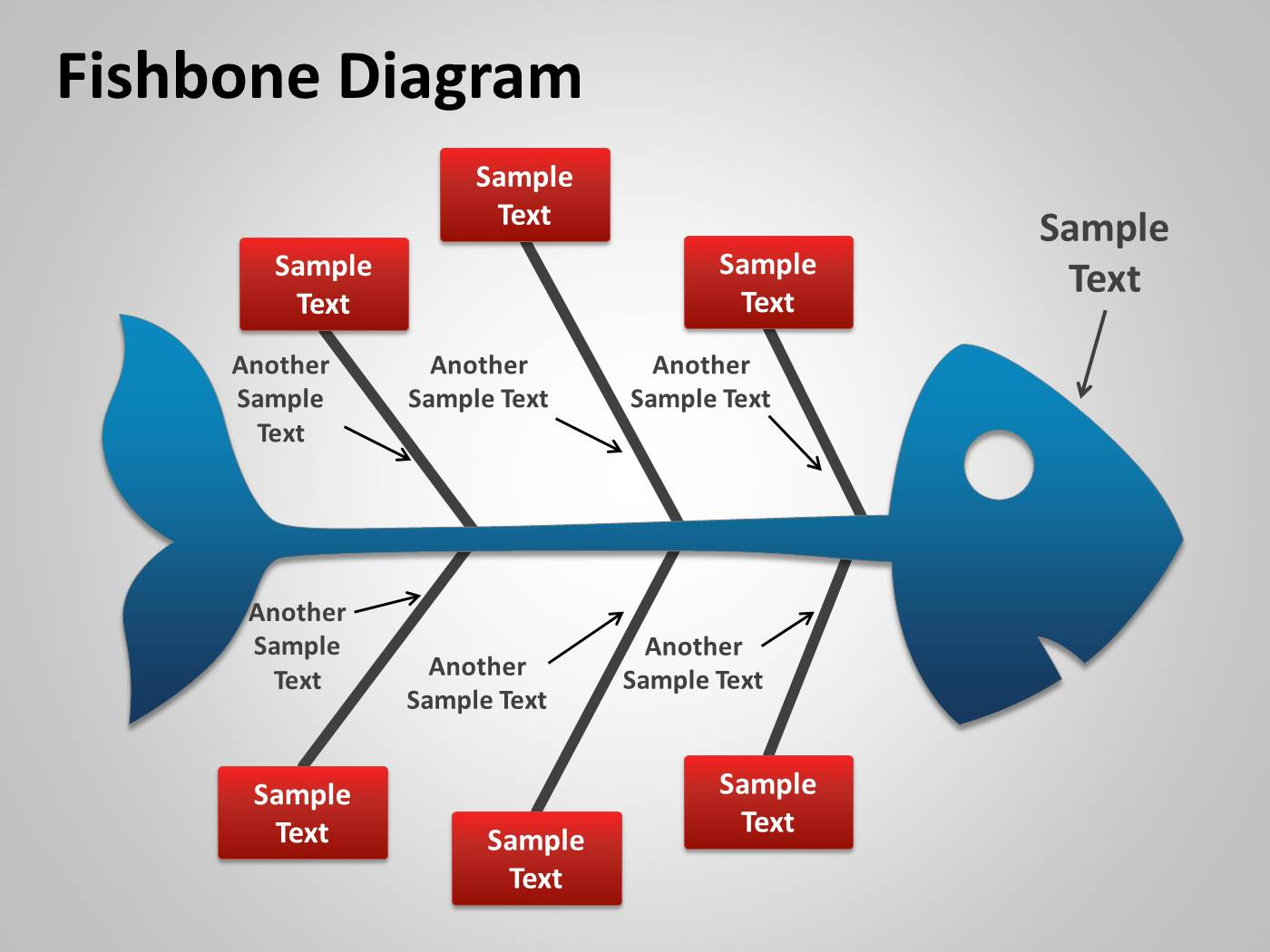 1019 Fishbone Cause And Effect Diagram For Powerpoint Pptx Rh Slideonline  Com Fishbone Diagram Template Word