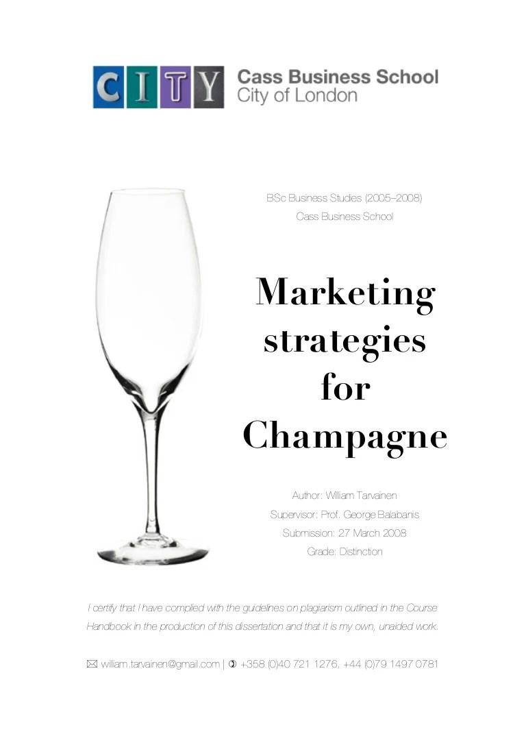 medium resolution of  tarvainen 2008 marketing strategies for champagne