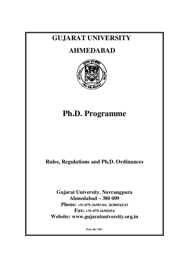 0900 Phd Rules Regulations And Ordinances