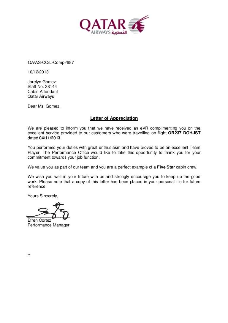Letter Of Appreciation 2013Nov04