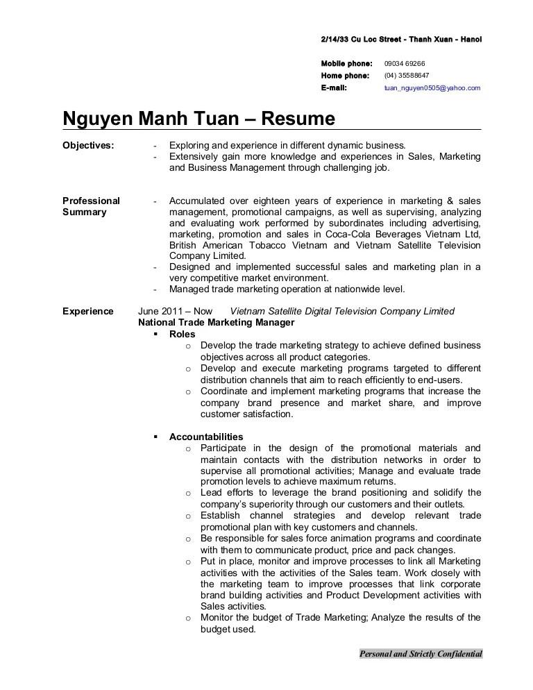 Trade Marketing Manager Job Description Malaysia - Best Market 2017