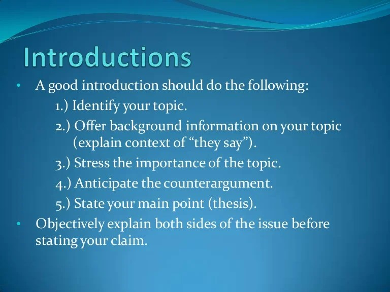 ENG 101 Research Paper Writing Introductions And Thesis Statements
