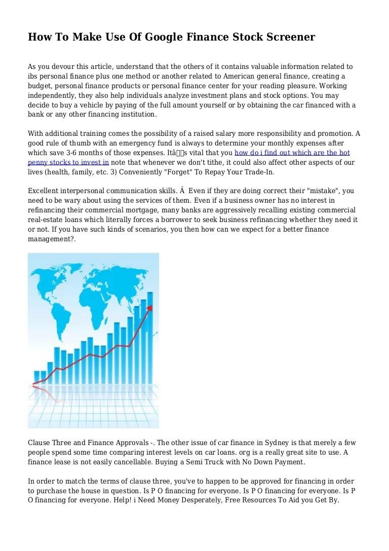 Google Finance Stock Screener : google, finance, stock, screener, Google, Finance, Stock, Screener