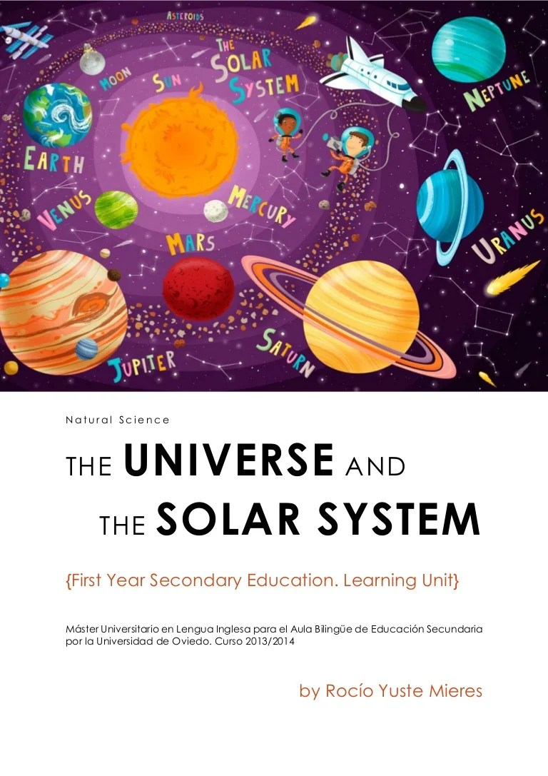hight resolution of Learning Unit. The Universe and the Solar System. First Year