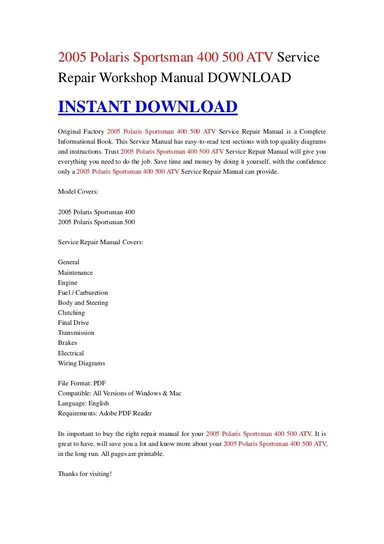 medium resolution of polari sportsman 500 wiring diagram pdf