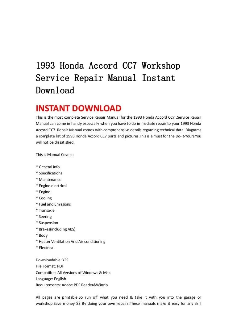 medium resolution of 1993hondaaccordcc7workshopservicerepairmanualinstantdownload 130428194106 phpapp02 thumbnail 4 jpg cb 1367178102