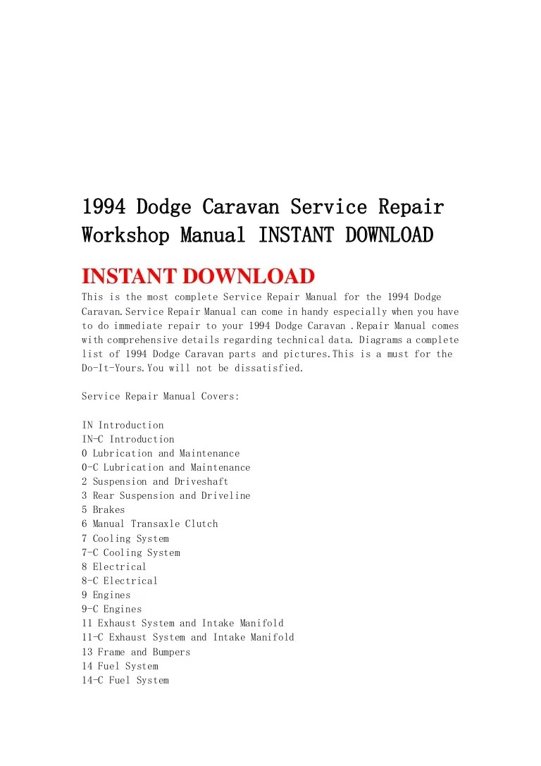 medium resolution of 1994dodgecaravanservicerepairworkshopmanualinstantdownload 130428193829 phpapp02 thumbnail 4 jpg cb 1367177944