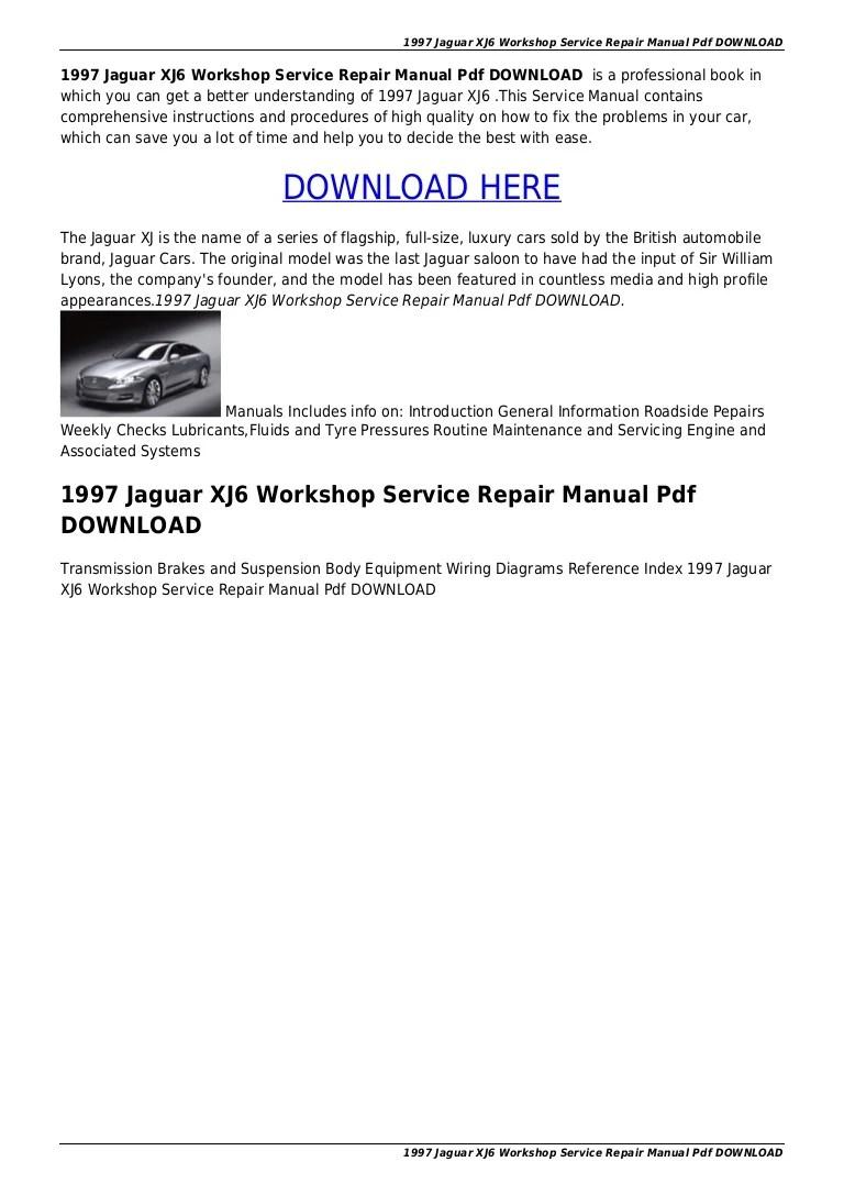 hight resolution of 1997jaguarxj6workshopservicerepairmanualpdfdownload 151012191859 lva1 app6892 thumbnail 4 jpg cb 1444677598