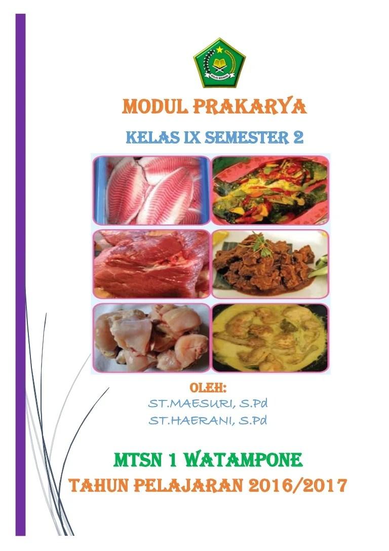 Pemilihan Daging Untuk Pembuatan Rendang Yang Baik Yaitu : pemilihan, daging, untuk, pembuatan, rendang, yaitu, Modul, Prakarya, Kelas