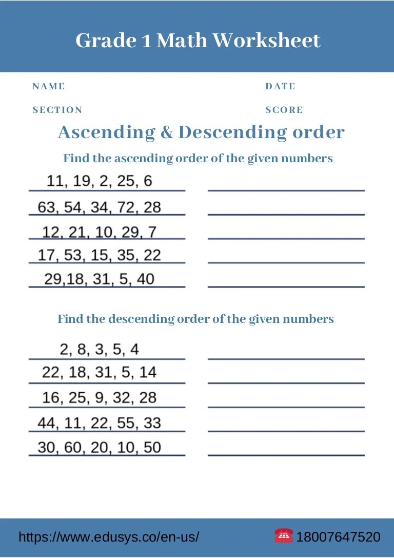 hight resolution of 1st grade free pdf math worksheet printable