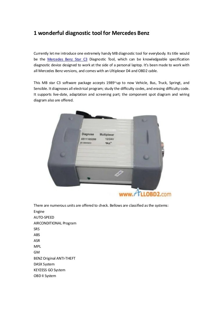hight resolution of 1wonderfuldiagnostictoolformercedesbenz 120715220153 phpapp02 thumbnail 4 jpg cb 1342389748