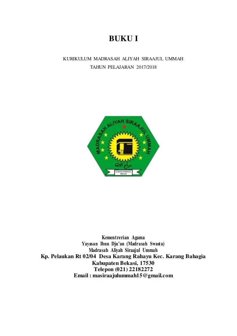Dokumen 1 Ktsp Sd 2017/2018 : dokumen, 2017/2018, Dokumen, Siraajul, Ummah