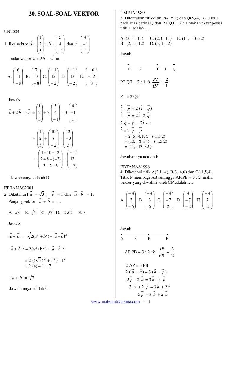 Vektor Matematika Peminatan : vektor, matematika, peminatan, Vektor