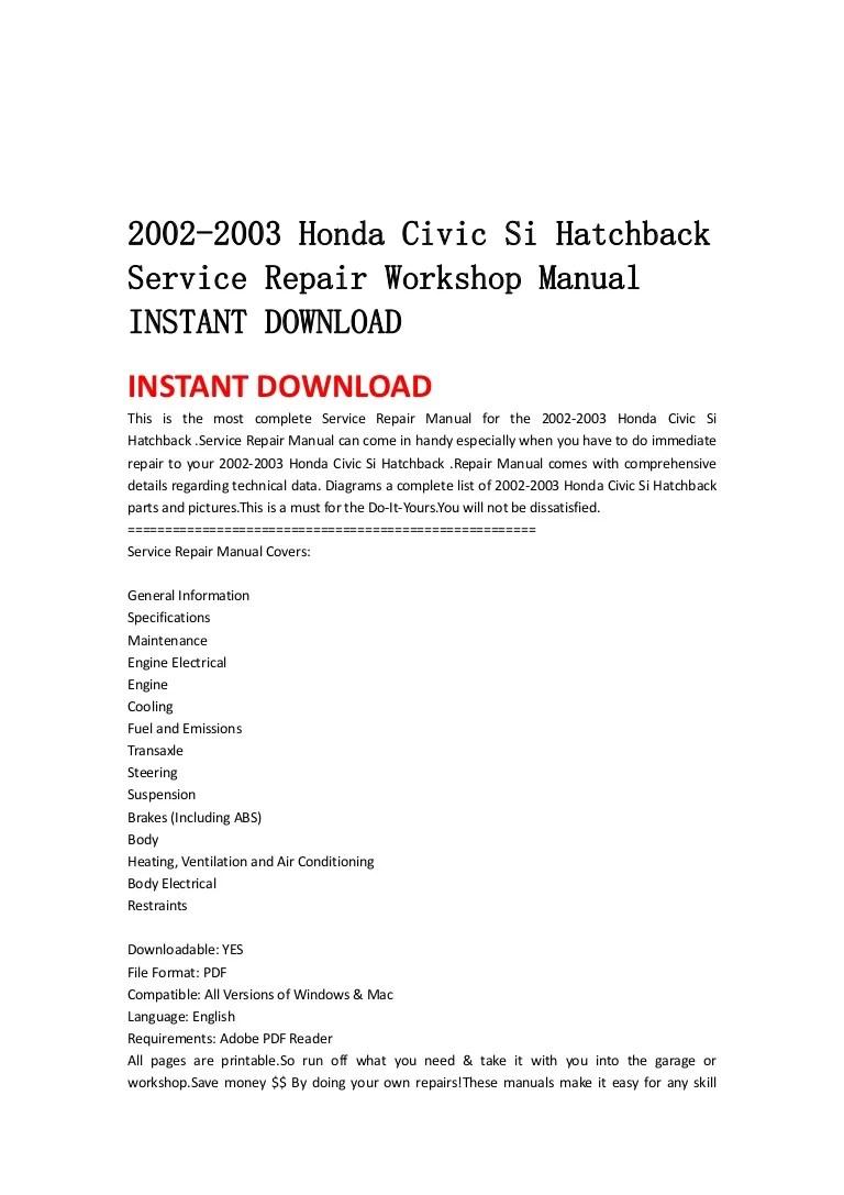 2003 honda civic si engine diagram [ 768 x 1087 Pixel ]