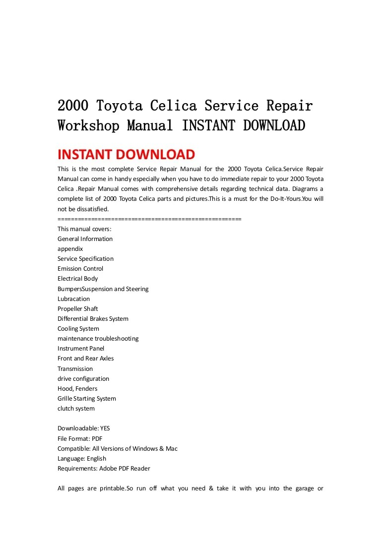 medium resolution of 2004 2006 toyota tundra service repair workshop manual instant download
