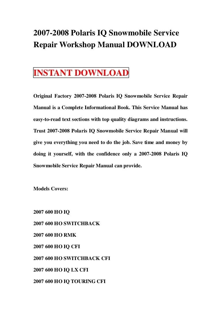wiring diagram for 2008 polari 600 snowmobile [ 768 x 1087 Pixel ]