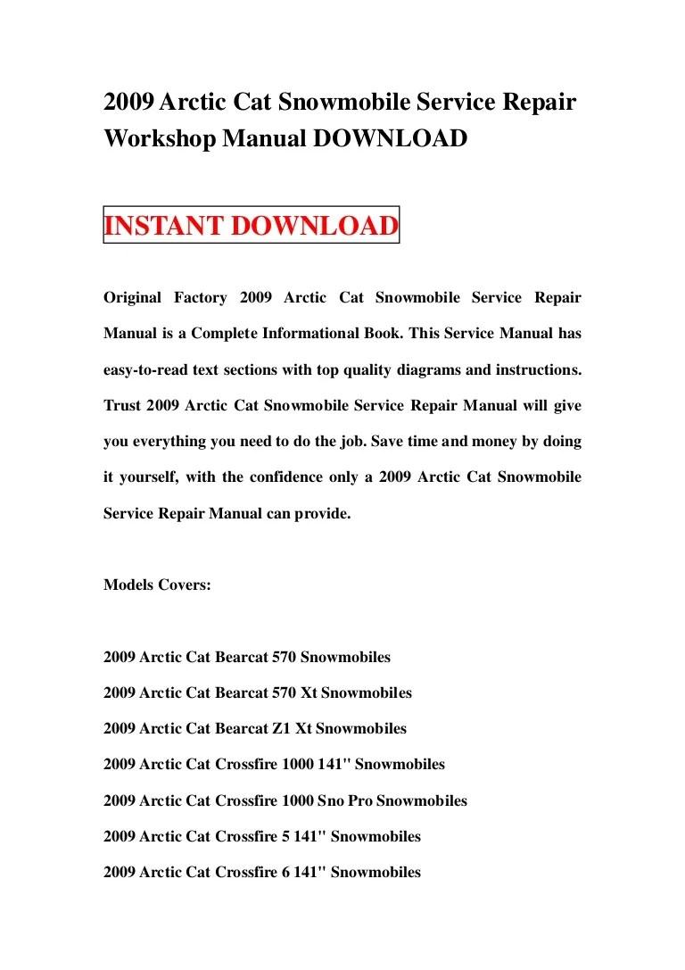 medium resolution of 2009arcticcatsnowmobileservicerepairworkshopmanualdownload 130119013643 phpapp01 thumbnail 4 jpg cb 1358559442
