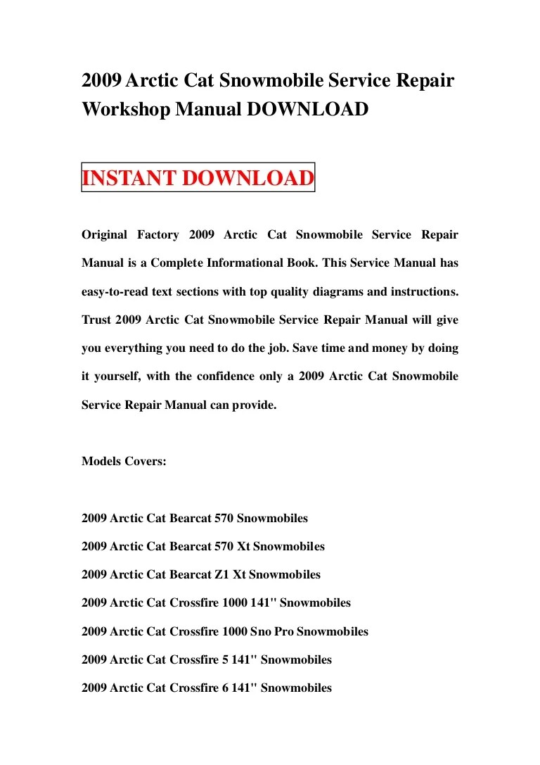 small resolution of 2009arcticcatsnowmobileservicerepairworkshopmanualdownload 130119013643 phpapp01 thumbnail 4 jpg cb 1358559442