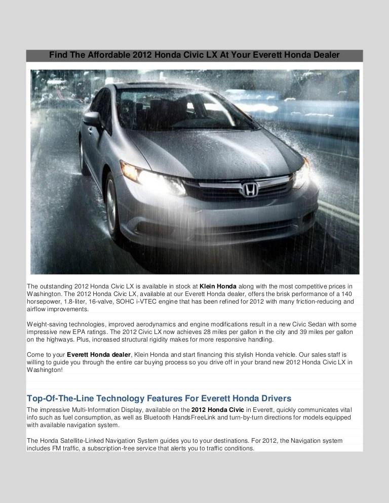 2012 Honda Civic Mods : honda, civic, Honda, Civic, Klein, Everett