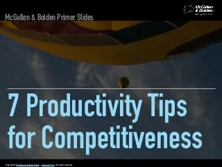 7 Productivity Tips for Competitiveness