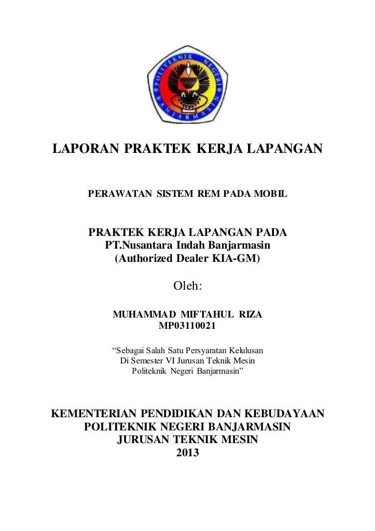 Contoh Laporan Pkl Otomotif : contoh, laporan, otomotif, 211656541, Laporan-pkl-politeknik-negeri-banjarmasin-di-nusantara-inda…