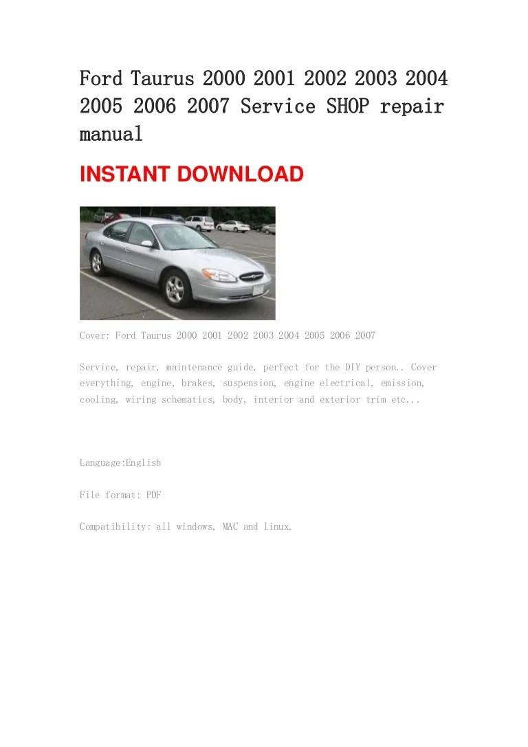 ford tauru user manual [ 768 x 1087 Pixel ]