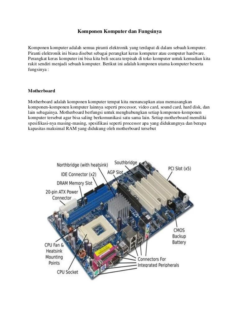 Jelaskan Fungsi Dari Motherboard : jelaskan, fungsi, motherboard, 253030699, Komponen-komputer-dan-fungsinya-pdf