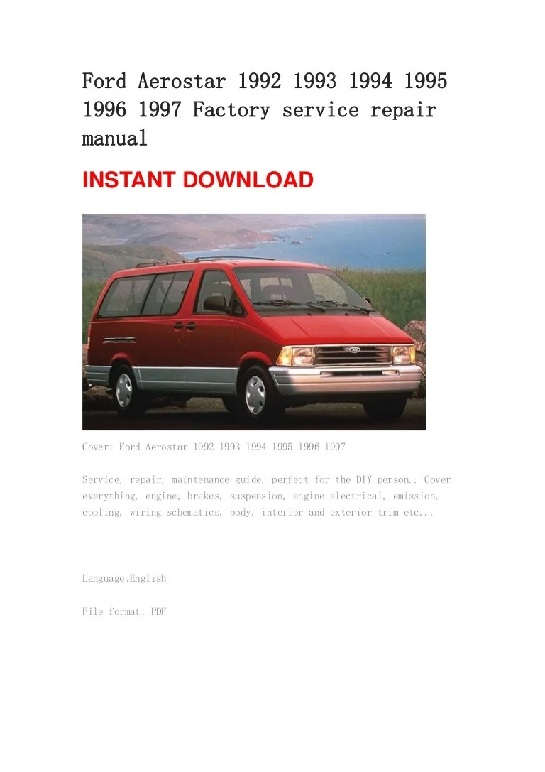 small resolution of 92 ford aerostar engine diagram trusted wiring diagrams rh hamze co