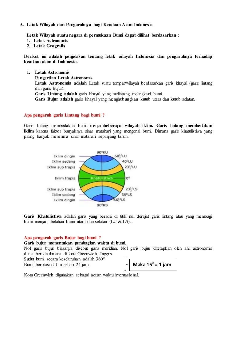 Letak Astronomis Asean : letak, astronomis, asean, Kesimpulan, Letak, Astronomis, Geografis