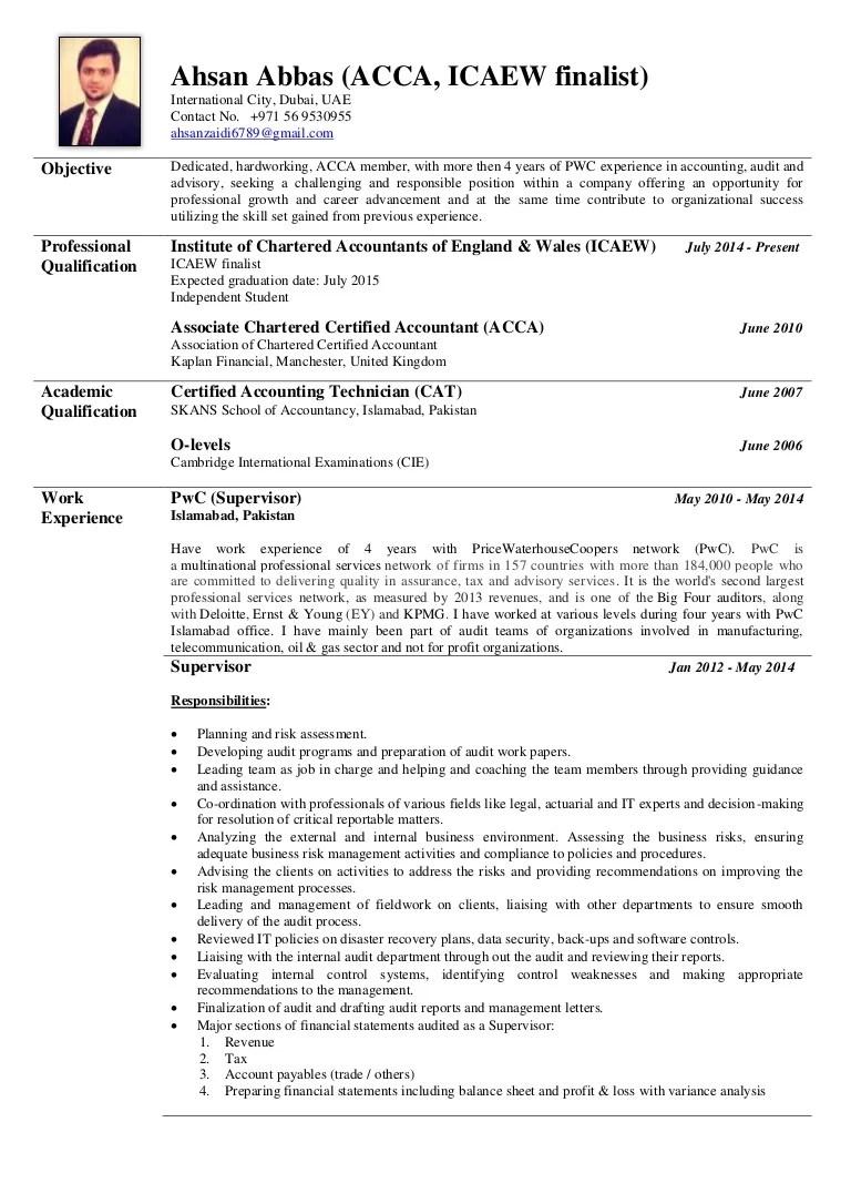 qualification summary sample
