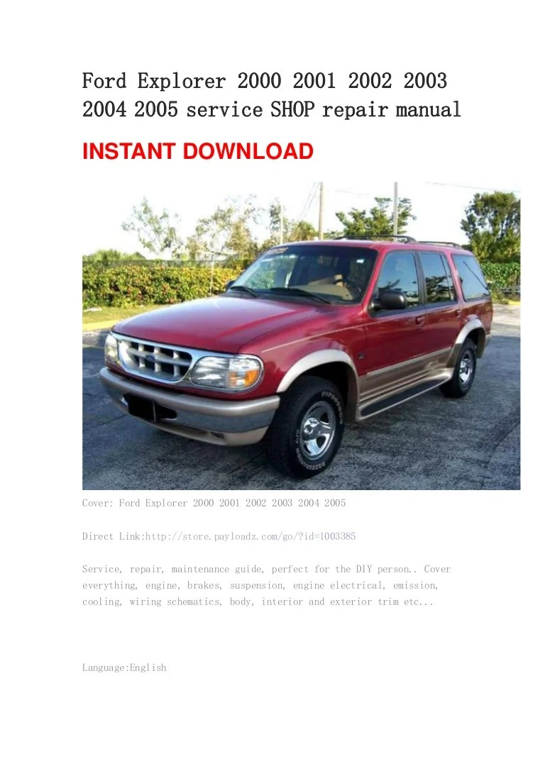 hight resolution of 1999 ford explorer service manual pdf