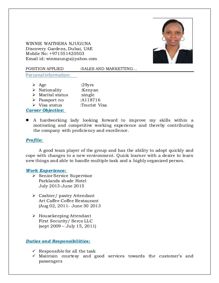 basic resume examples in english